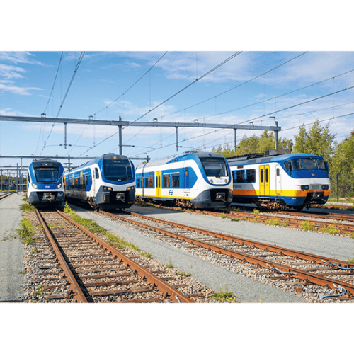Poster Sprinter Line up (gevouwen) Treinwebshop