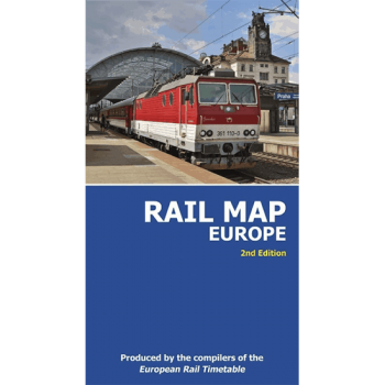 Rail Map of Europe (Folded)
